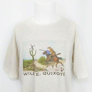 Wile E. Quixote graphic tee